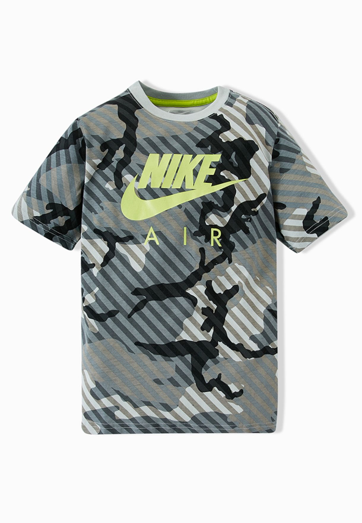 0de4713f1 Shop Nike prints Youth Camouflage T-Shirt 641813-065 for Kids in UAE ...