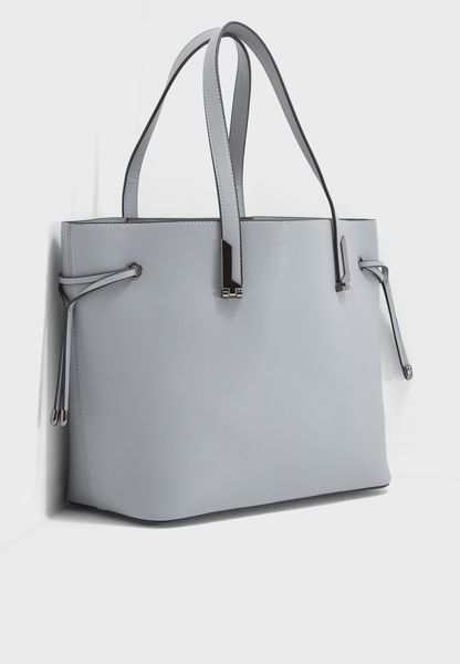 Plain Tie Side Tote