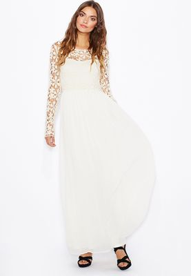 Club L Crochet Maxi Dress
