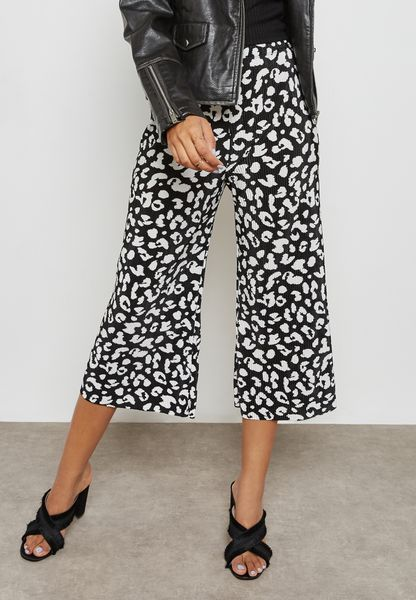 Printed Pleated Culottes