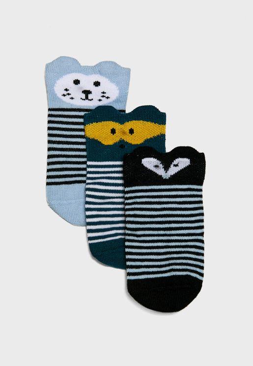 Infant 3 Pack Socks