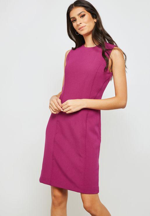 Back Zip Detail Dress