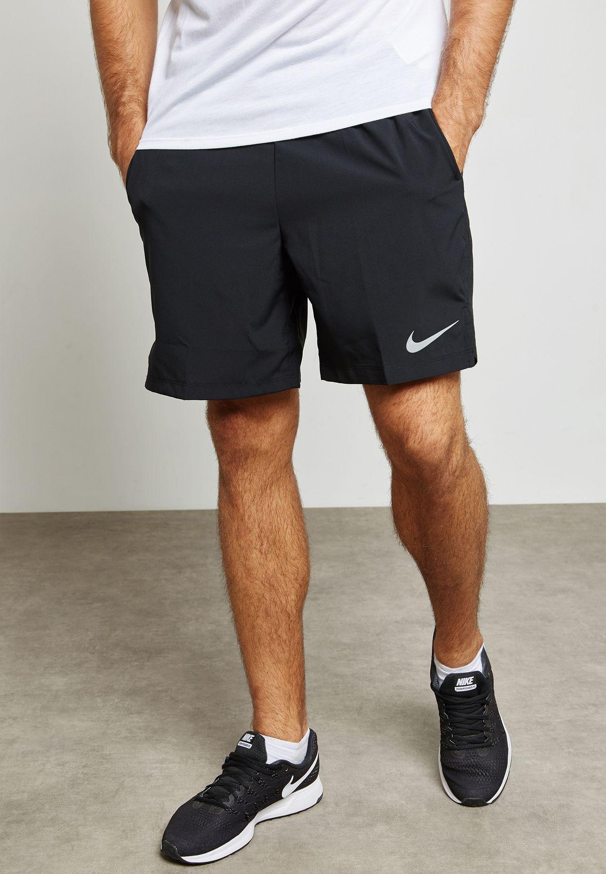 dfd409e28526a Shop Nike black Flex Challenger 7 quot  Shorts 856838-011 for Men in ...