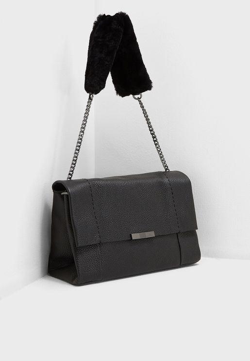 Neliie Shearling Handle Crossbody
