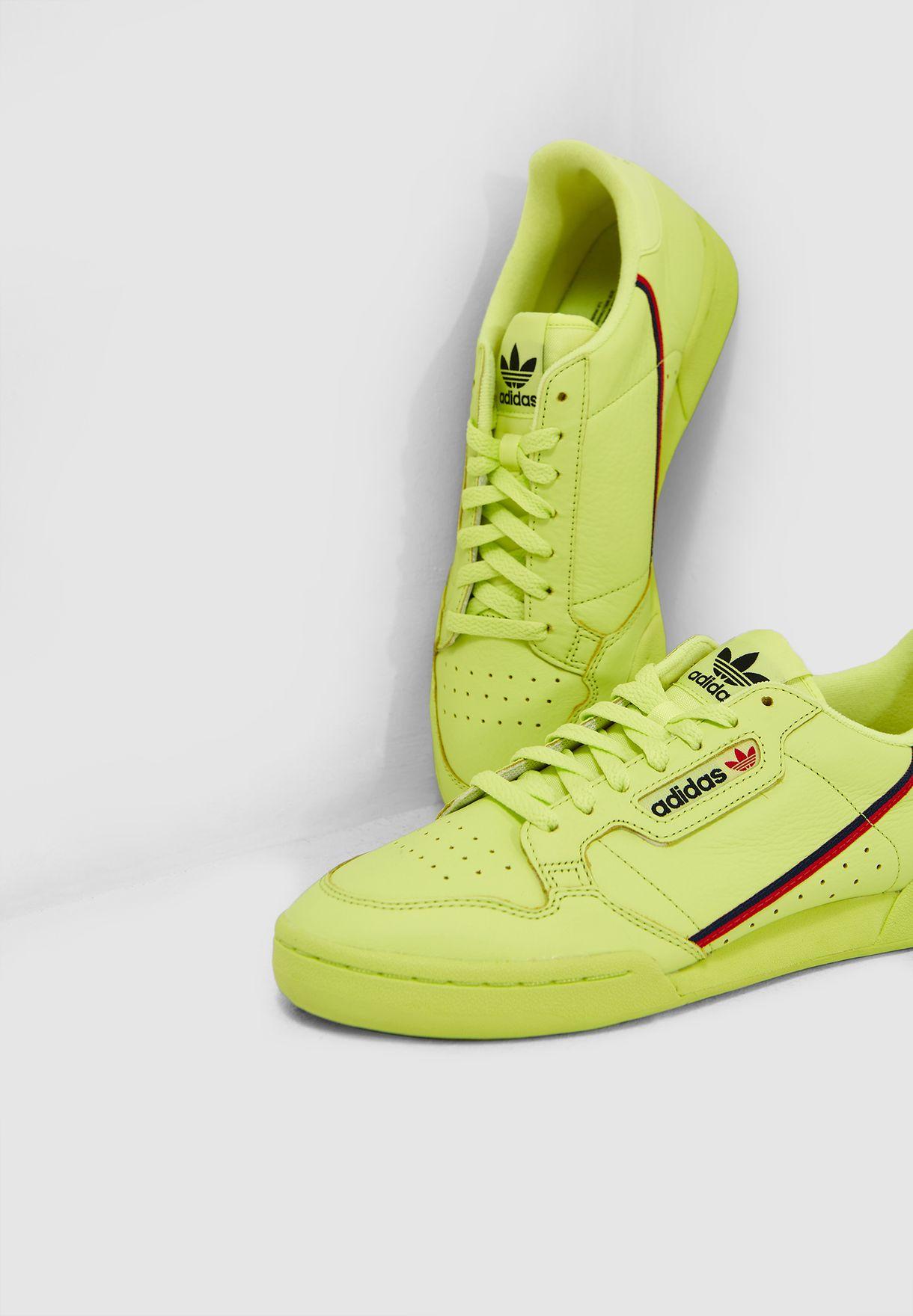 newest e3f14 d41ba Shop adidas Originals green Continental 80 B41675 for Men in