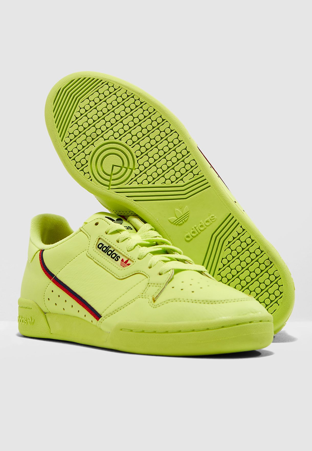 newest c6927 6eb1f Shop adidas Originals green Continental 80 B41675 for Men in