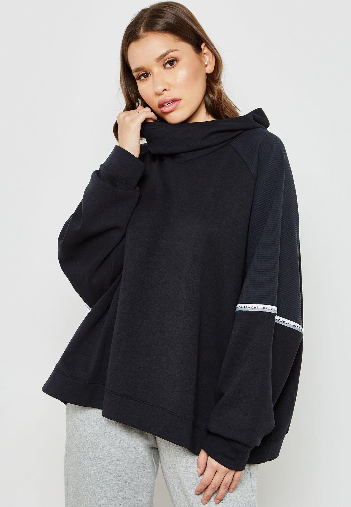 sensor Novedad nacionalismo  Buy Under Armour black Unstoppable Oversized Hoodie for Women in MENA,  Worldwide | 1328226-001