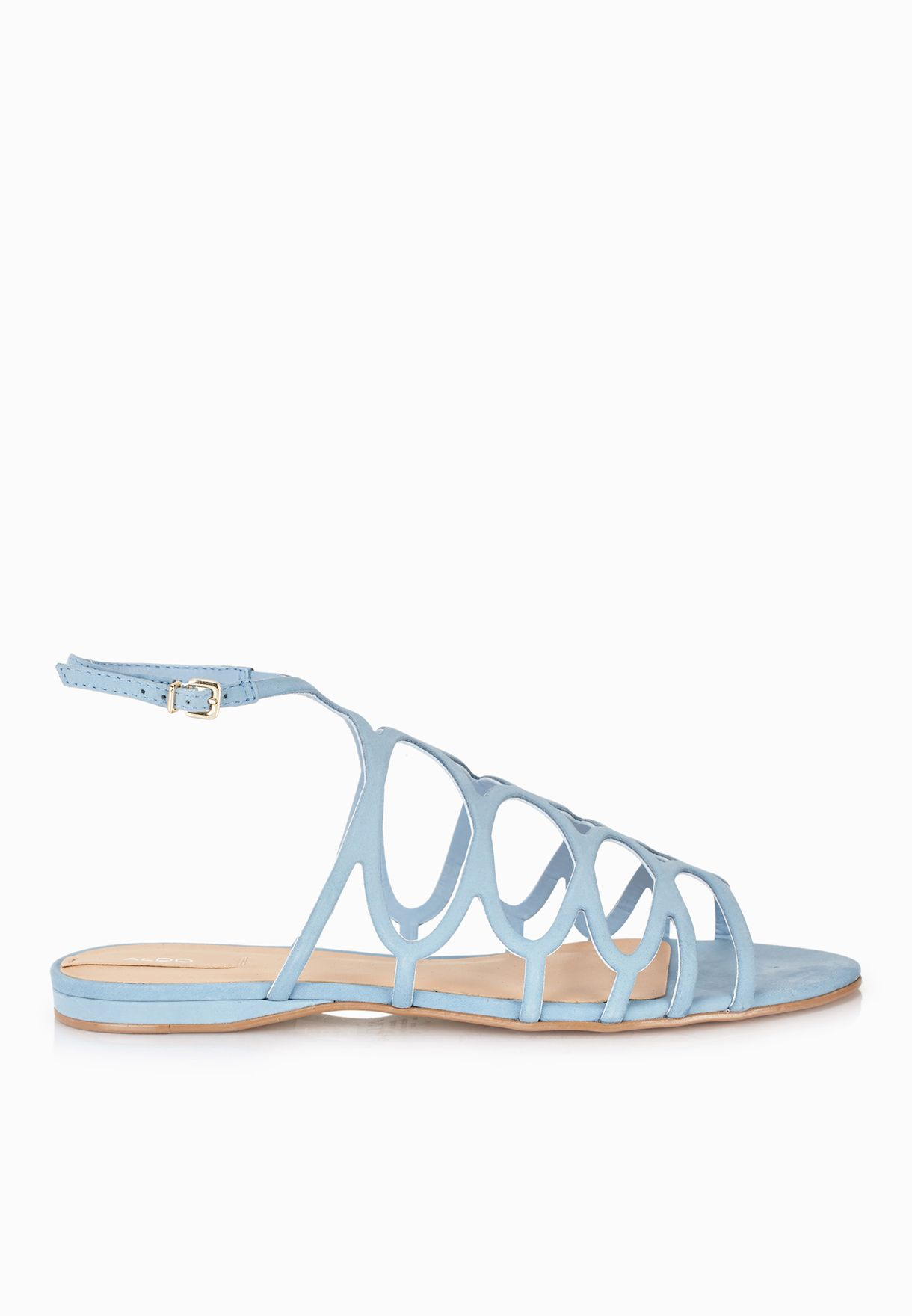 e6f7f0e7c17 Shop Aldo blue Signoressa Cage Sling Back Sandals for Women in Kuwait -  AL729SH11HWY
