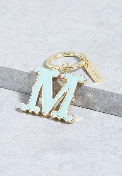 M Alphabet Enamel Keyring