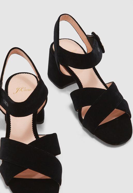 Cross Strap Penny Sandal