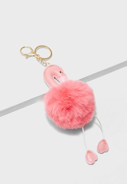 Flamingo Keyring