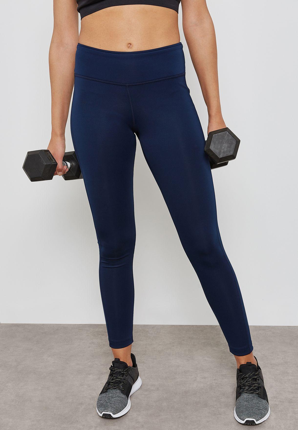 69c072f0d316ff Shop Reebok navy Workout Ready Leggings CE1241 for Women in Saudi ...