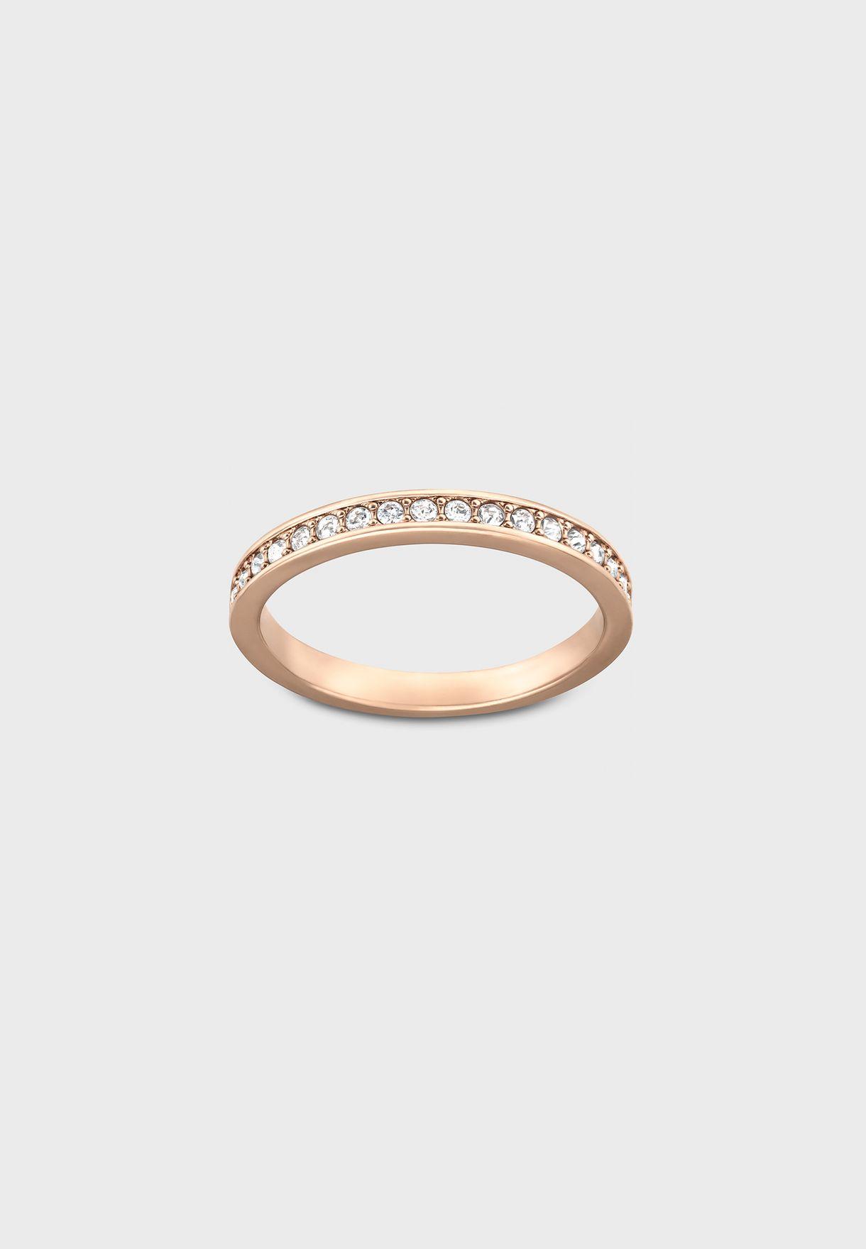 خاتم مطلي بالذهب الوردي