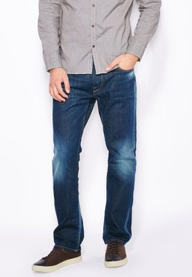 Jack & Jones Clark Slim Fit Mid Wash Jeans