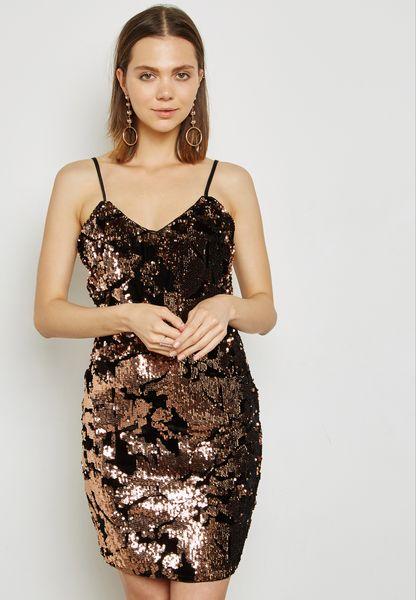 Sequin Mini Cami Dress