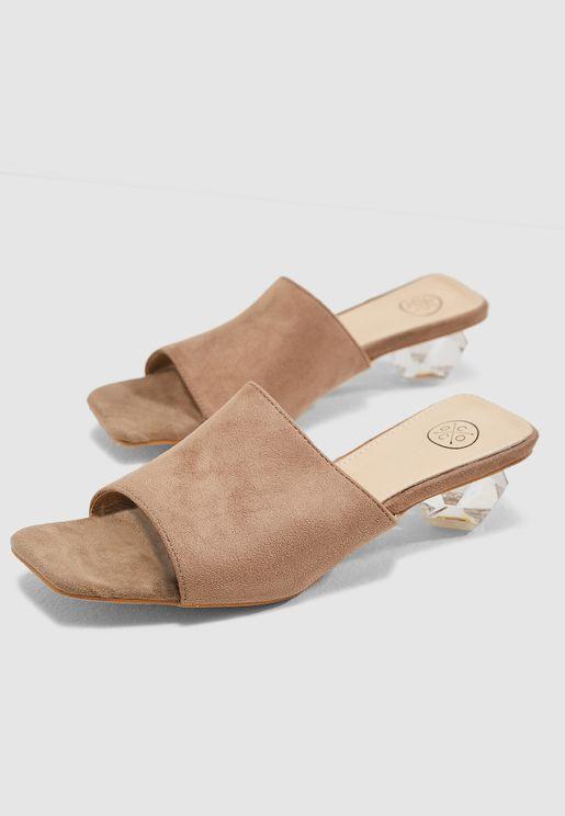 Azel Clear Heel Sandals