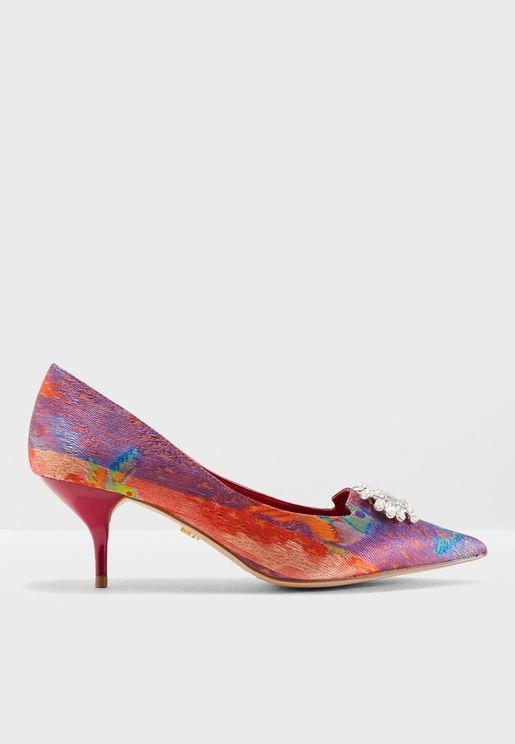 Pia Kitten Heeled Sandals