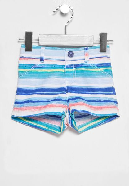 Infant Stripe Print Shorts