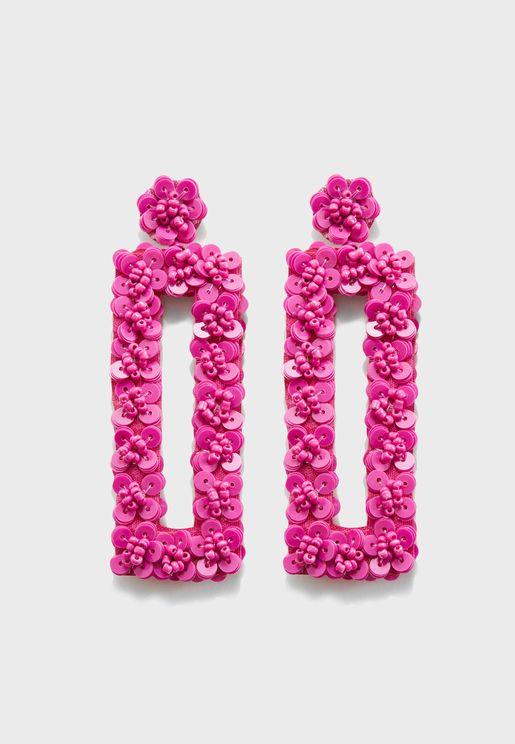 Cherie Sequin Drop Earrings