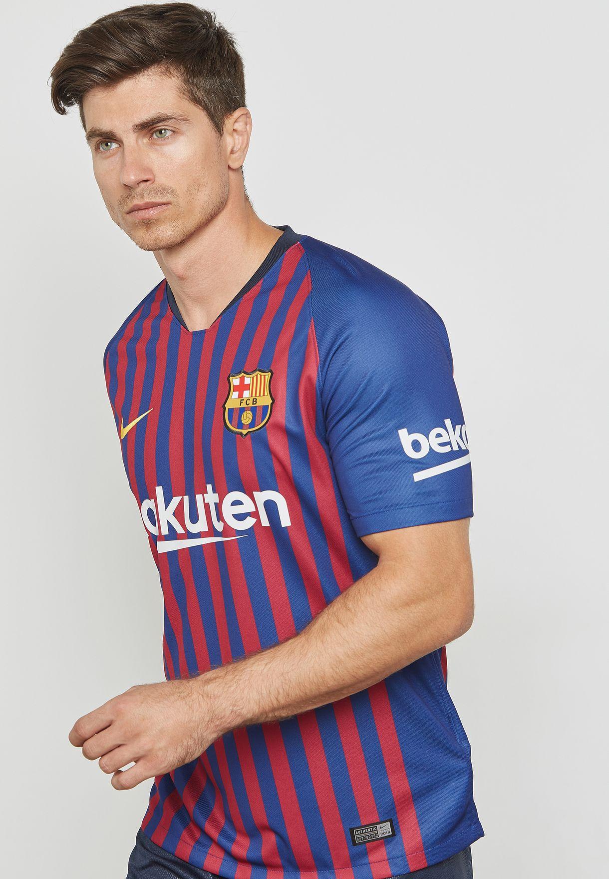 a6b1b2792c8 Shop Nike blue FC Barcelona 18/19 Stadium Home Jersey 894430-456 for ...