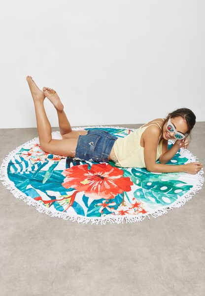 Floral Palm Beach Towel