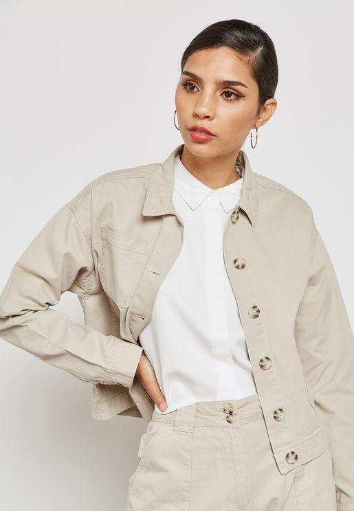 Pocket Detail Jacket Co-ord