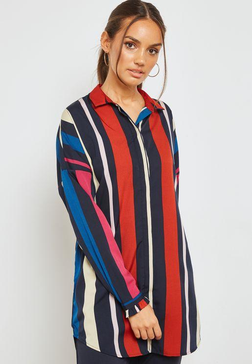 Striped Longline Shirt