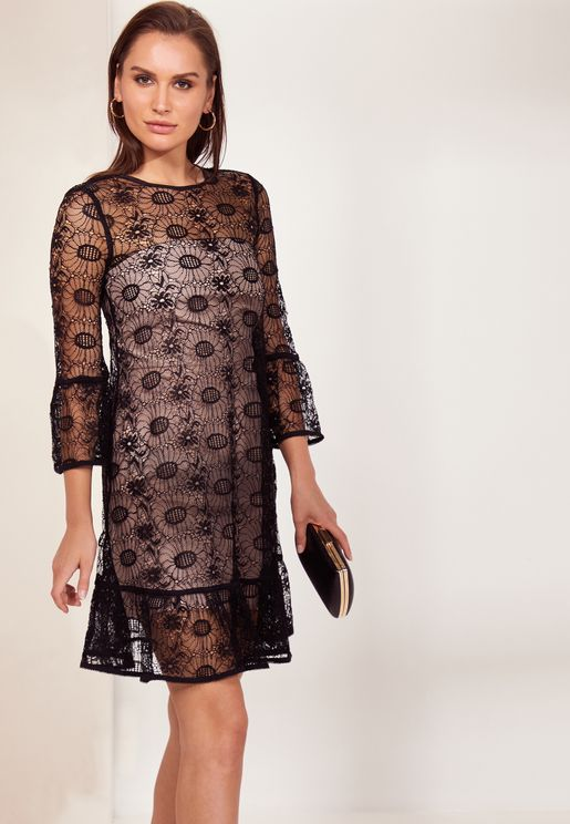 Jade Sheer Lace Dress