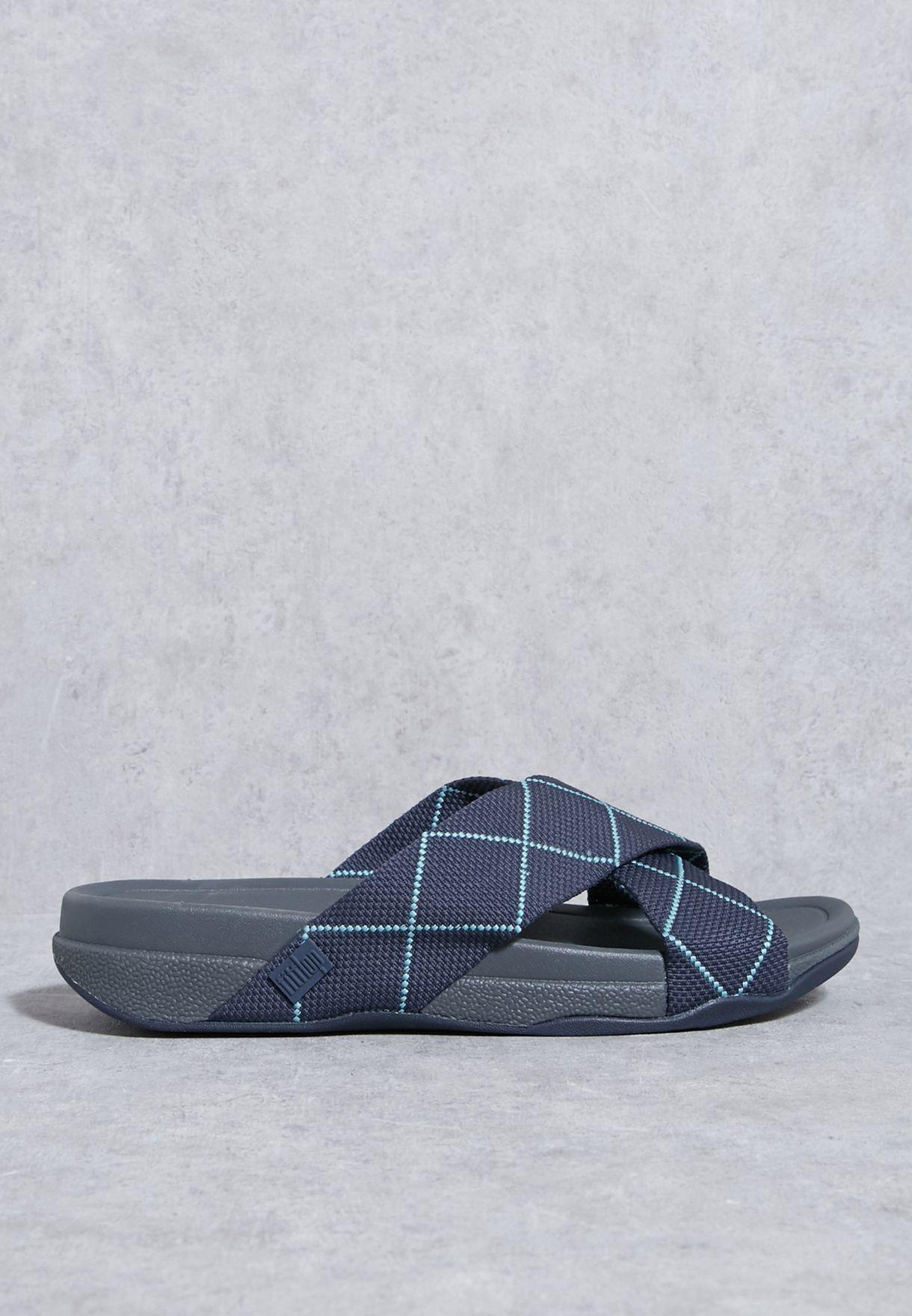 9fcb4c94597c Shop Fitflop multicolor Surfer Dyno Slide Sandals H08-450 for Men in ...