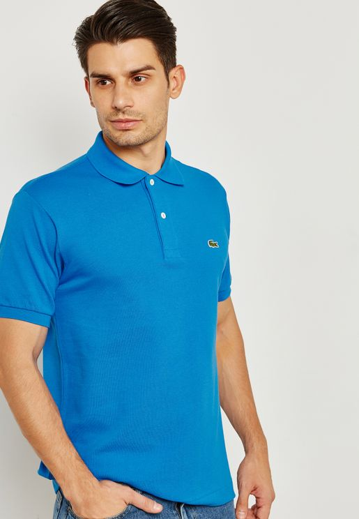 Ribbed Collar Polo