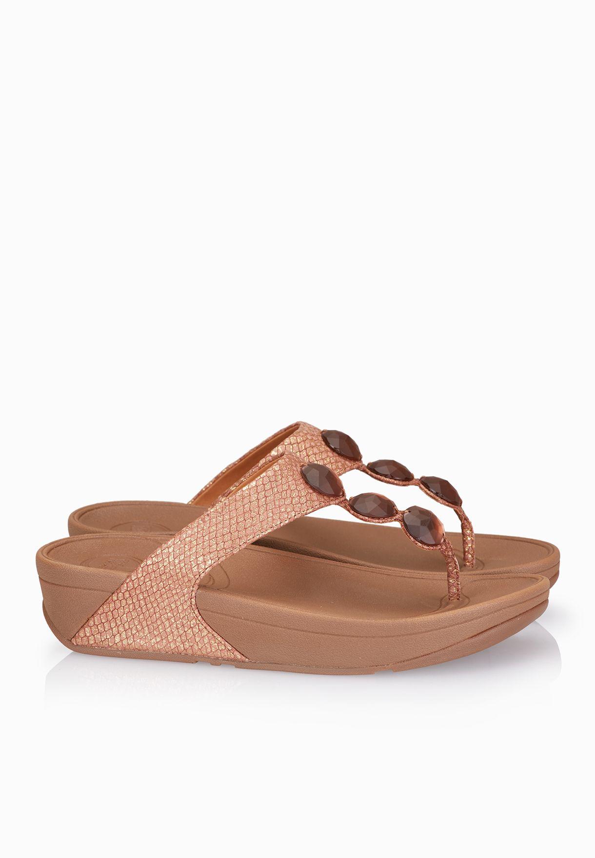 17dd22f145cafc Shop Fitflop bronze Petra Sandals 476-295 for Women in UAE ...