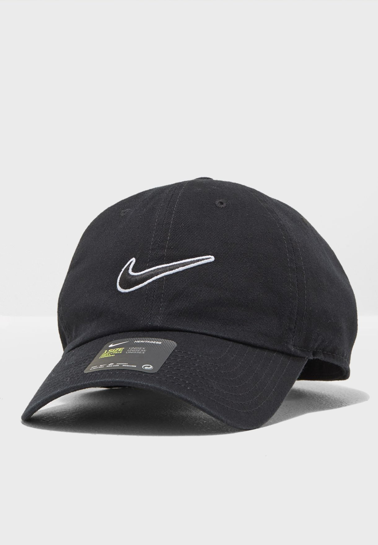8f52927a9bb Shop Nike black H86 Essential Swoosh Cap 943091-010 for Men in Saudi ...