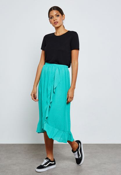 Wrap Ruffle Skirt