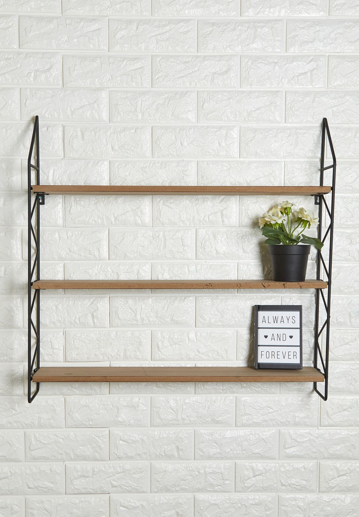 Zig Zag Wall Shelves Rack