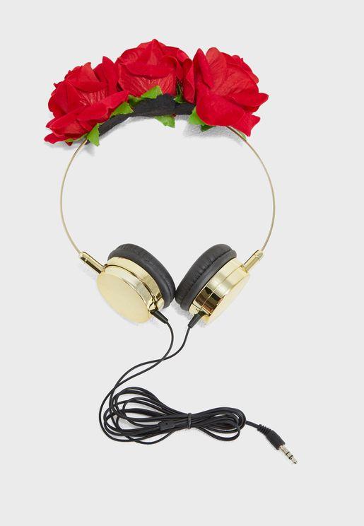 Novelty Floral Headphones