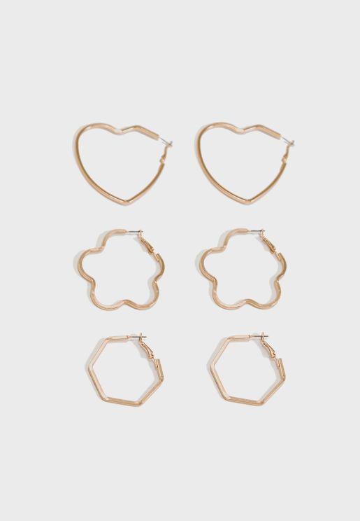 Multipack Sanna Creol Earrings