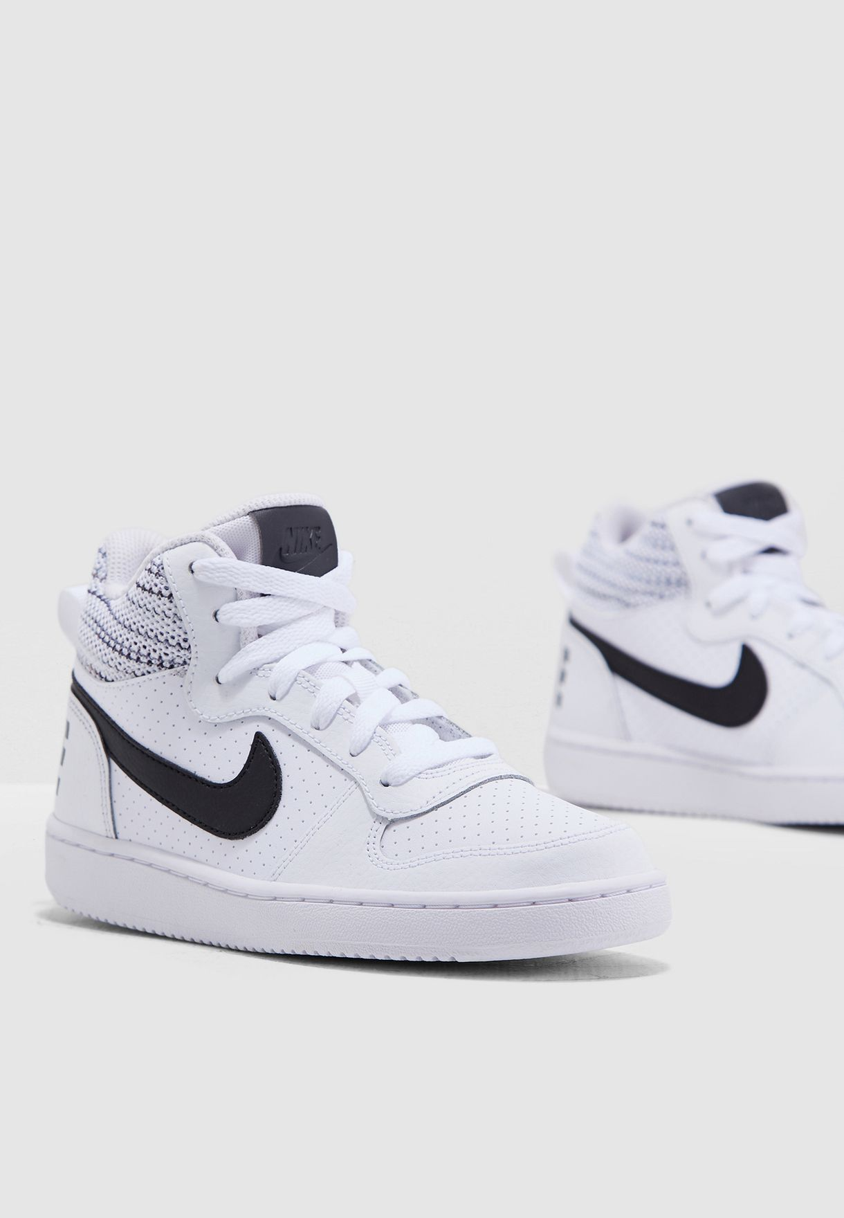 b80a45948b42a7 Shop Nike white Youth Court Borough Mid SE 918340-100 for Kids in ...
