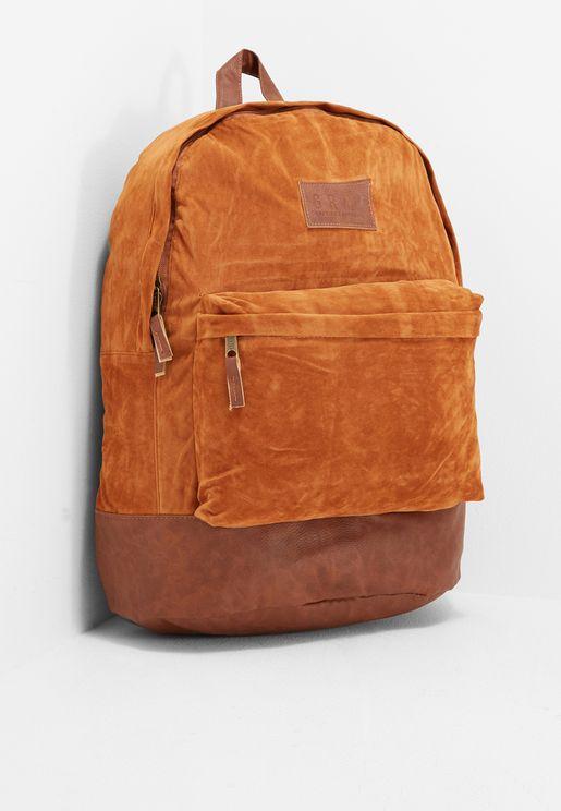 Natural Suede Bagpack