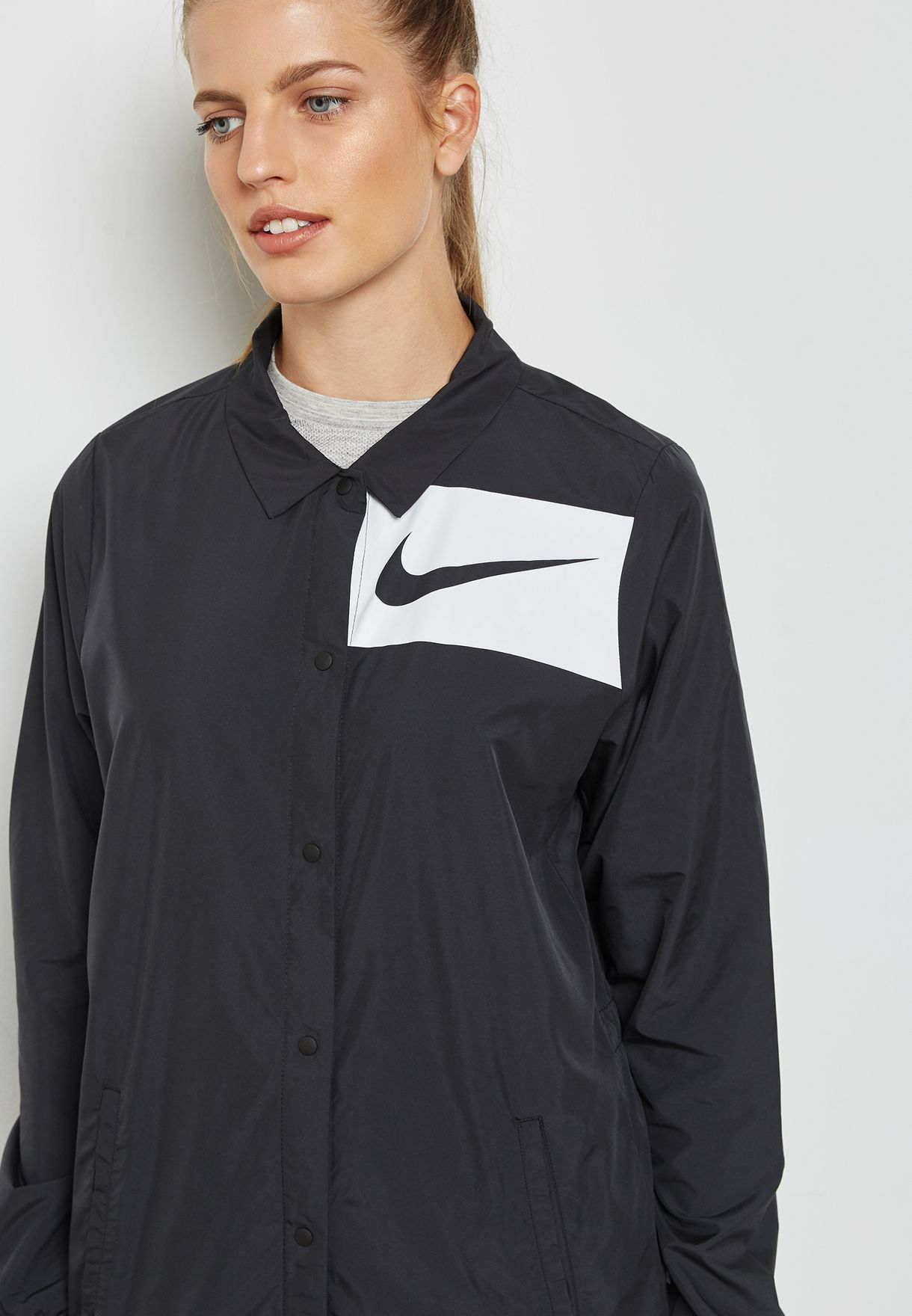 c61b4b7fe2 Shop Nike black Swoosh Jacket 893029-010 for Women in Bahrain ...