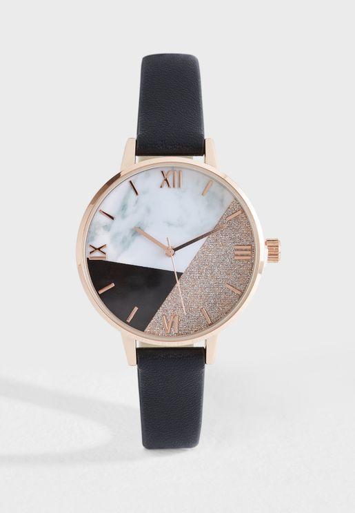 Colourblock Dial Watch