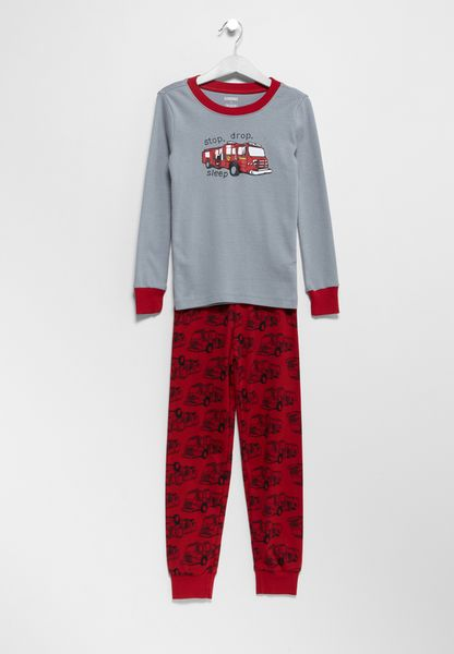 Infant Firetruck Fal T-Shirt+Pyjama Set