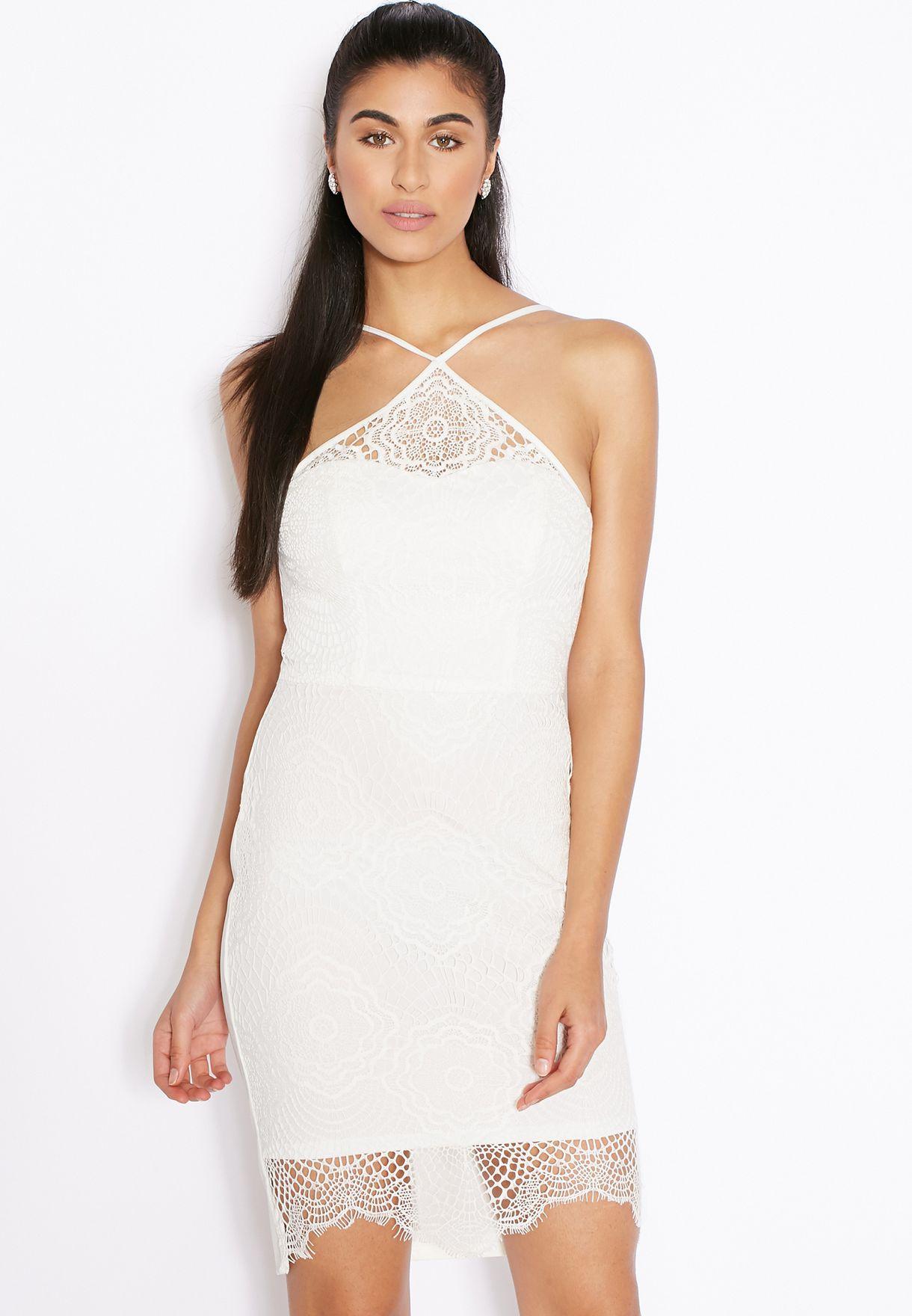 Lace Halterneck Dress