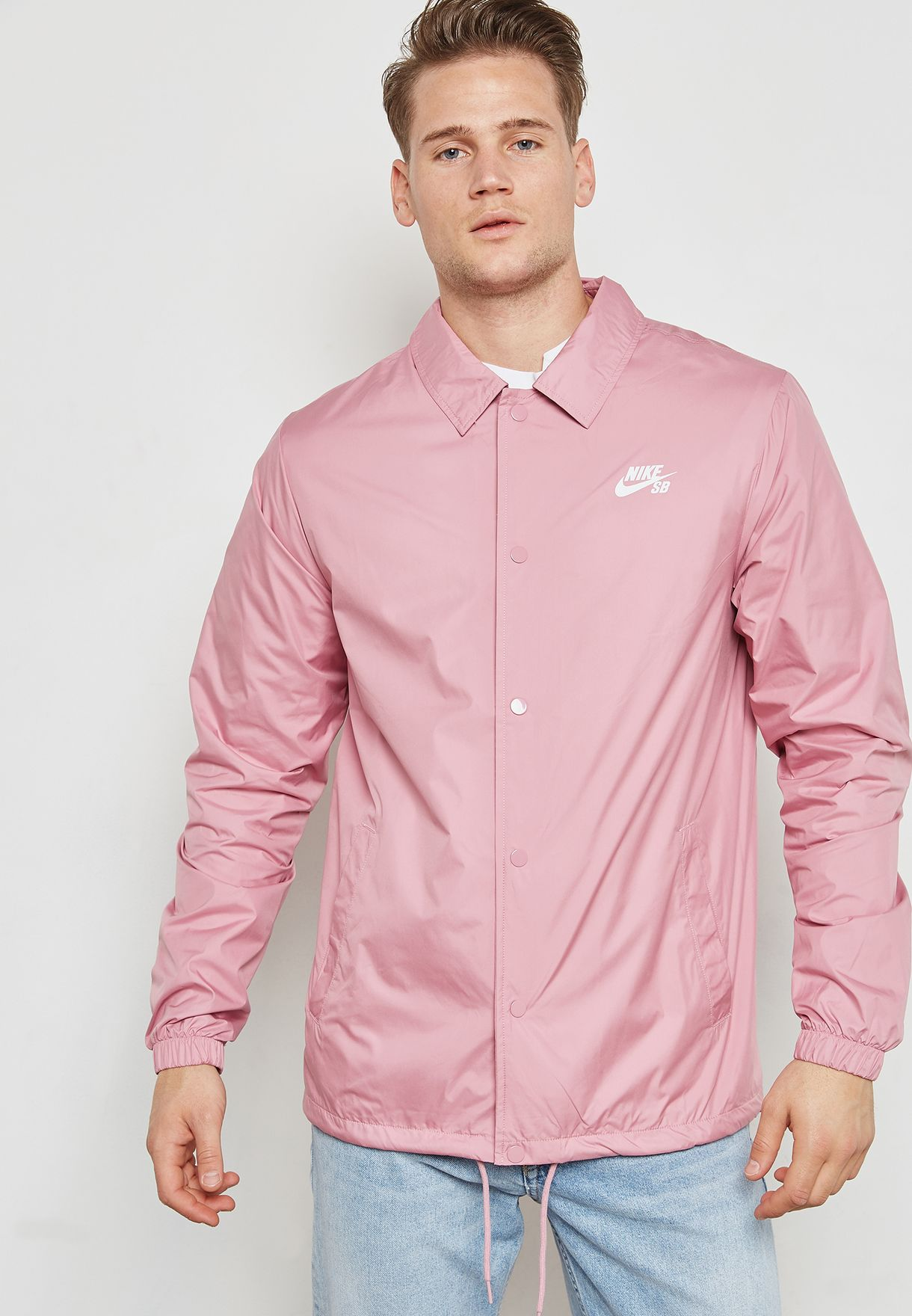 3d82dabc07ed Shop Nike pink SB Shield Coaches Jacket 829509-678 for Men in UAE ...