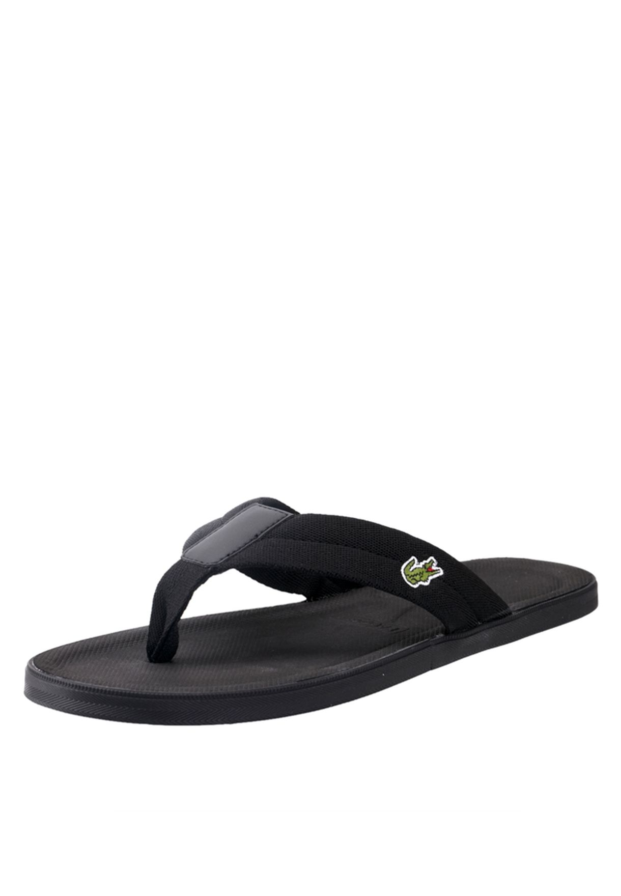 5883fdb298a7 Shop Lacoste black Casual Flipflops 25SPM4017-02H for Men in UAE ...