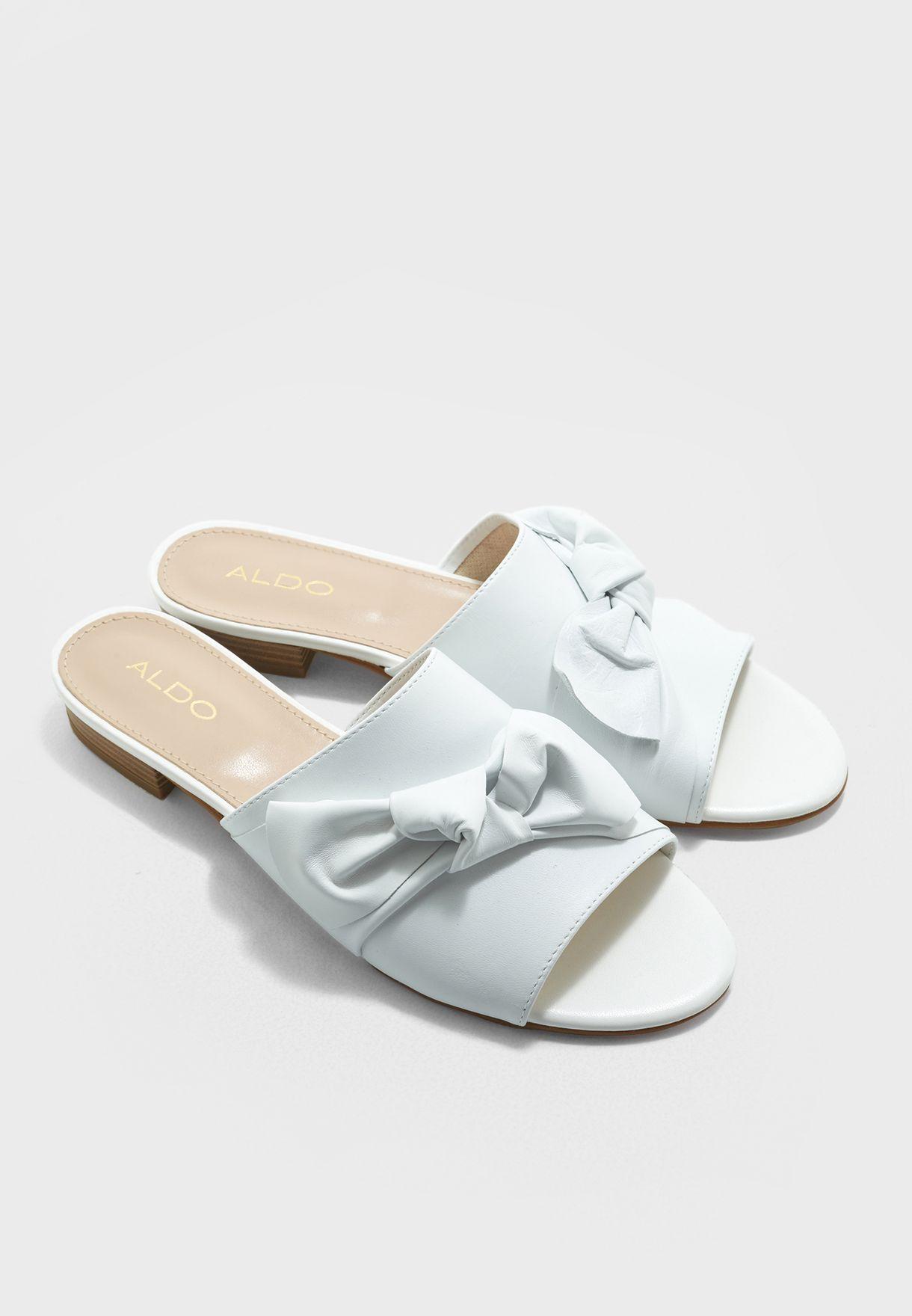 Shop Aldo white Bowwie Flat Sandals BOWWIE70 for Women in UAE ...