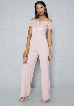 Bardot Lace Jumpsuit