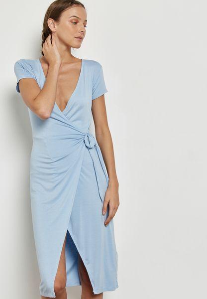 Wrap Slit Detail Dress