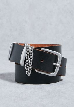 Chain Detail Jeans  Belt