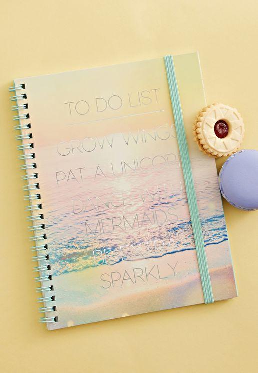 A5 Unicorn To Do List Sunset Notebook