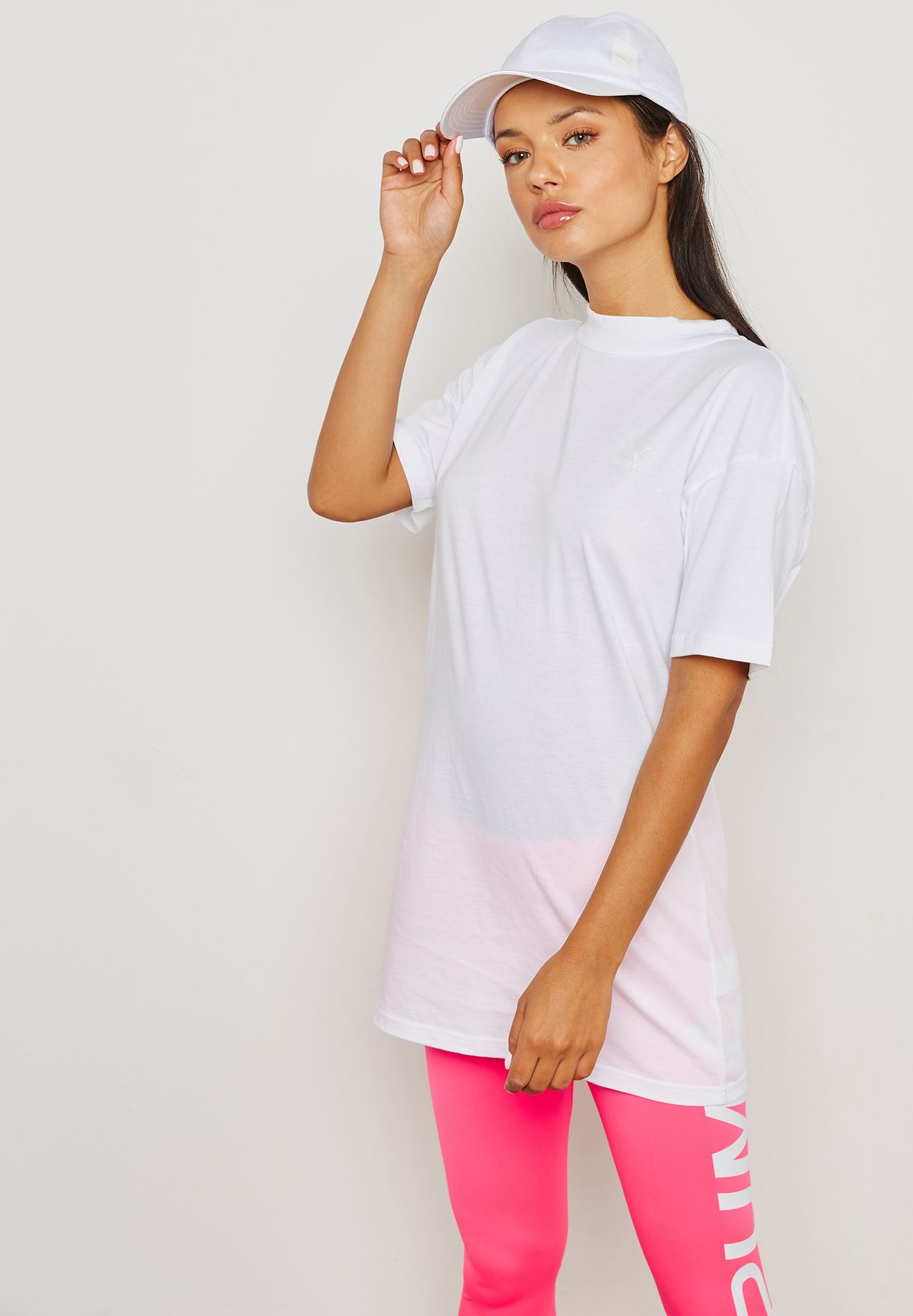 4456843f94 Shop PUMA white Bow Elongated T-Shirt 85023602 for Women in UAE ...